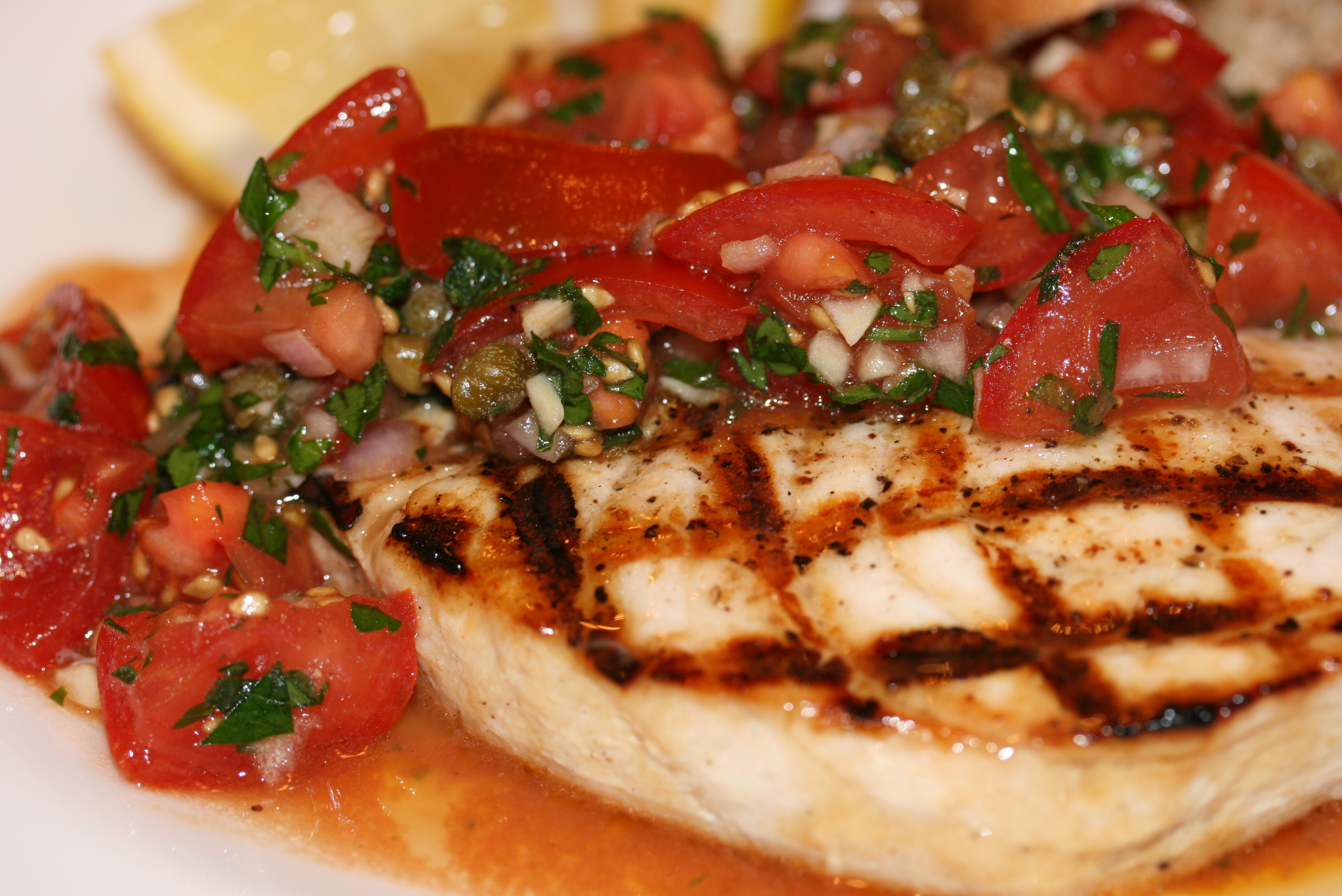 Mediterranean grilled swordfish 4plates2table for Sword fish recipes