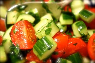 Jerusalem chopped salad
