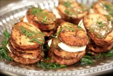 Grilled Potato & Goat Cheese Napolean