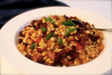corn and bacon saute