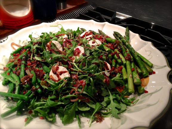 Asparagus & Green Beans with Crispy Pancetta, Shallots & Goat Cheese ...